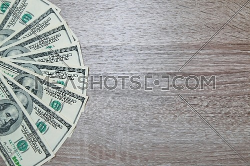 A lot of Dollars isolated on desk