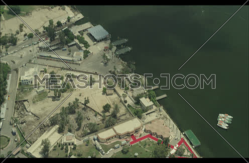 Fly over a Harbor in New Suez Canal at day.