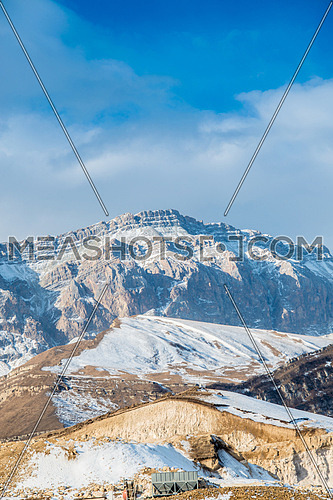 Mountains during winter in Azerbaijan