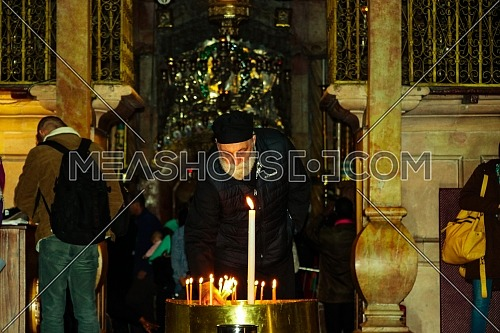 Preparations begin to celebrate Christmas from inside the Church of the Holy Sepulcher in , Jerusalem