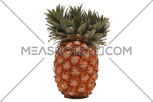 Just a ripe pineapple (ananas) with white background