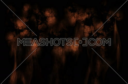 Smoke And Fire Animation Isolated On Black Background