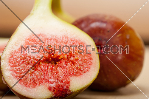 fresh ripe figs on a rustic white table
