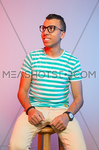 Young man with glasses indoor