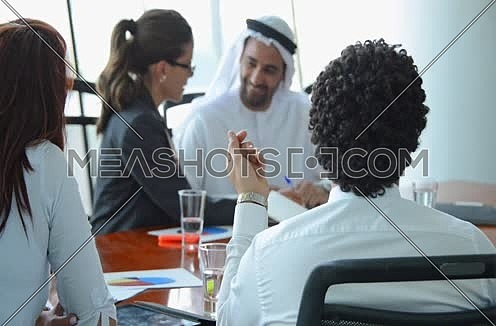 middle eastern Business people in meeting room