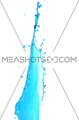 Colored splashes in abstract shape, isolated on white background