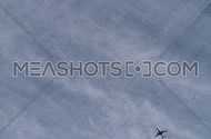 Planes fly overhead prior to landing