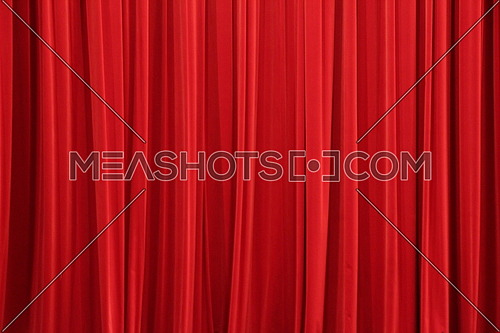 The red theater curtain before the show is start