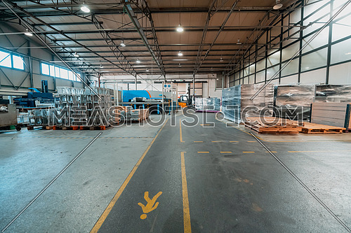 View of the storage warehouse. Transportation concept. Warehouse store concept. High quality photo