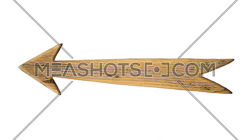 Wooden Arrow Sign Isolated On White Background