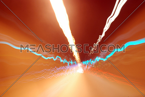 blurred abstract road lights