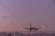 Plane lands in early evening (4 of 4)