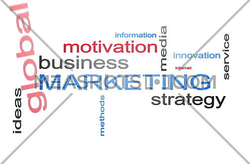 Marketing Strategy Management Word Cloud Text Animation