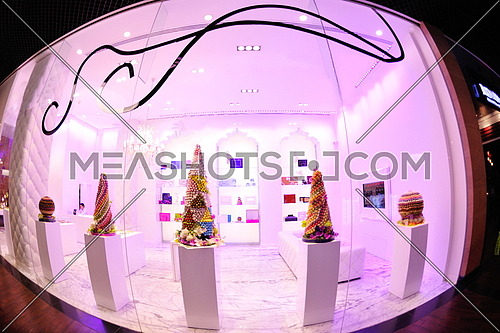 luxury decorated candysweets  store in shopping mall