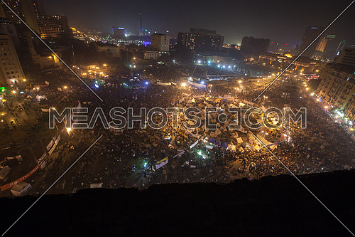 Top Shot for Tahrir Square  in Cairo at Night