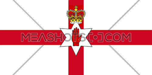 Northern Ireland Flag. Ulster Banner 3D illustration