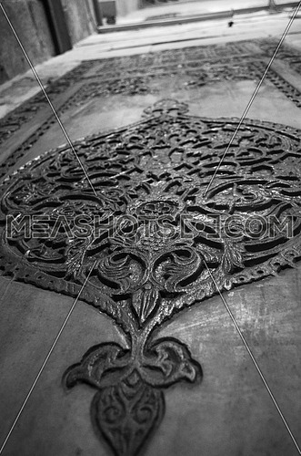 islamic floral art on a stone