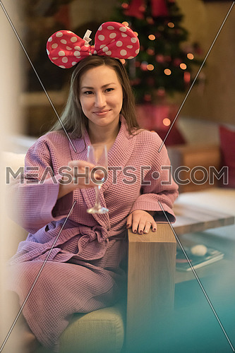 bachelorette party woman portrait in spa center