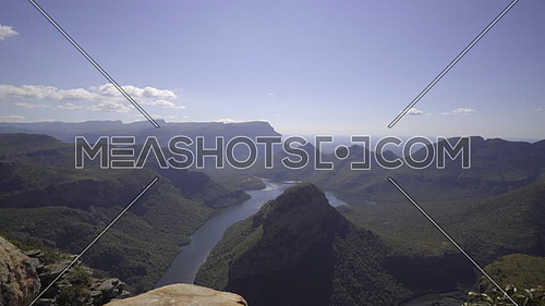 Left pan of the lush Blyde river canyon