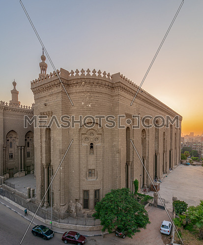 External view of Al Rifai historical mosque. View from from Al Rifai Street, Old Cairo, Egypt