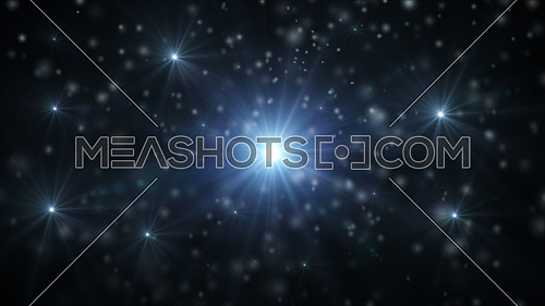 Abstract background with falling snow and light rays, snowflakes. Christmas. New Year. Snowstorm. Winter