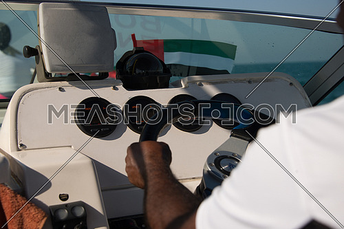 sailor driving boat