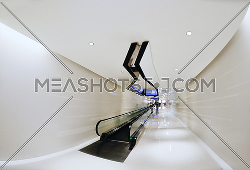 abstract Interior of a modern shopping mall center