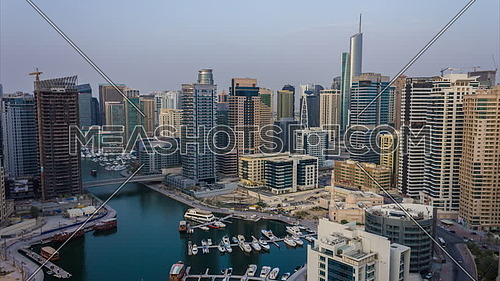 Dubai Marina Timelapse during sunset