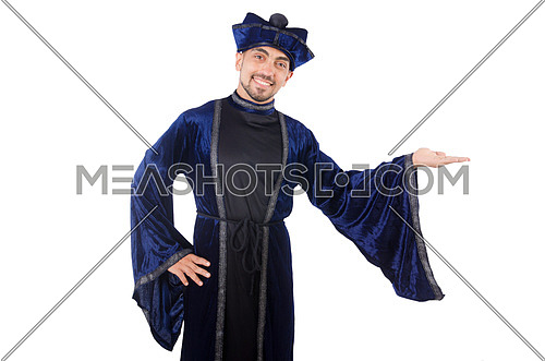 Wizard isolated on the white background