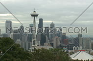 Cloudy Seattle morning