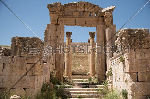 Old City of Jar-ash full of old Roman Empire temples and Remainings