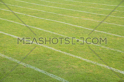 green turf in a running pitch