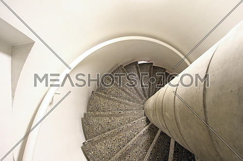 Spiraling staircase with dizzying effect