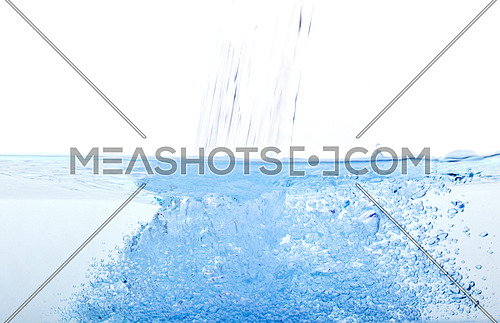 blue water bubble on white background