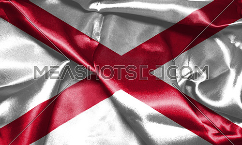 Northern Ireland Flag. Saint Patrick's Saltire 3D illustration