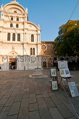 Venice Italy San Zaccaria church front view