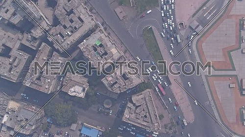 Fly Over Shot Drone for Opera Parking in Cairo Downtown in 22 of March 2018 at Day