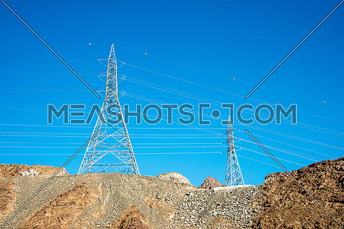 electric tower on mountain