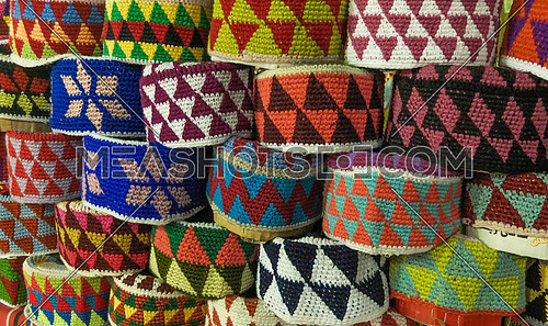 Handmade woven hats from the Nubian culture