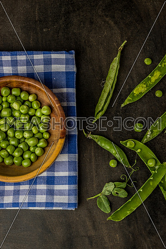 A pea is a most commonly green, occasionally golden yellow or infrequently purple pod-shaped vegetable, widely grown as a cool season vegetable