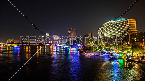 Nile River with Cairo City backdrop