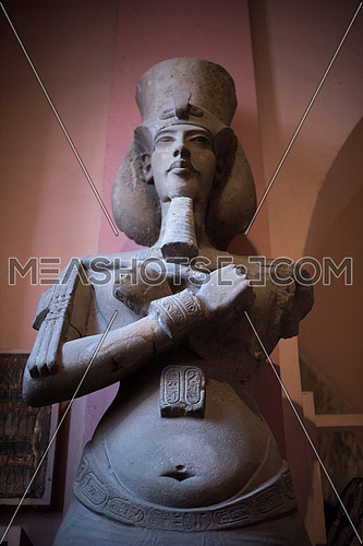 Great King Ikhnaton who was the first to believe in One God statue in the Egyptian Museum