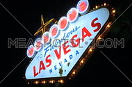 Las Vegas sign at night - fast pans (1 of 7)