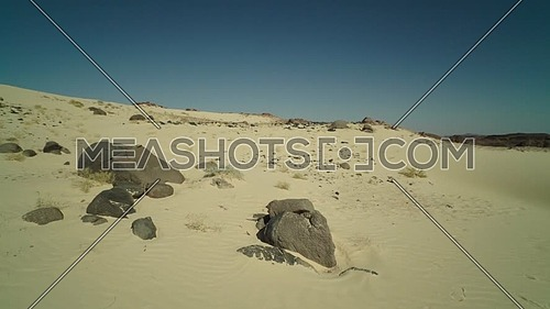 Reveal shot for Sinai Mountain from Ain Hodouda at day