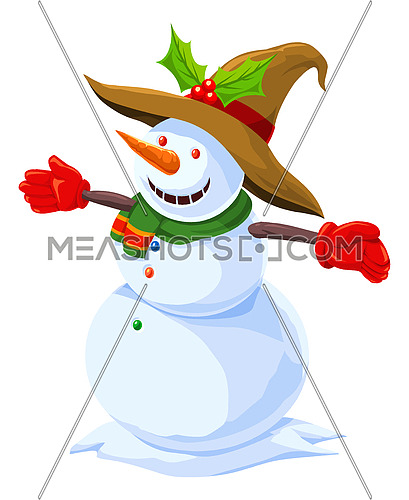 Christmas Snowman, illustration