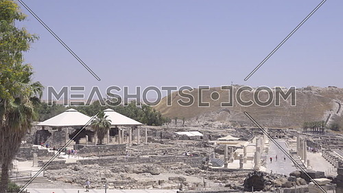Right pan of the historic Beit Shean archeological site
