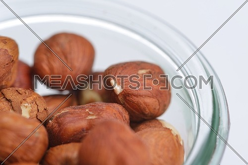 hazelnut healthy organic food isolated on white background on white