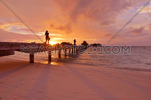 beautiful tropical beach background landscape nature sunset