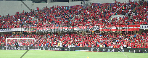 Egyptian FC Al Ahly spectators during the match Al Ahly VS AS ROMA in Abu dhabi on 20 May 2016