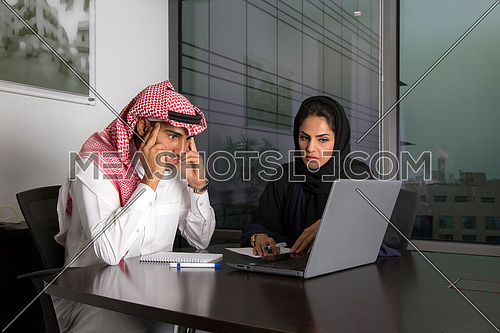 Manager focusing in the meeting